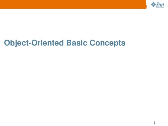 Object-Oriented Basic Concepts  1