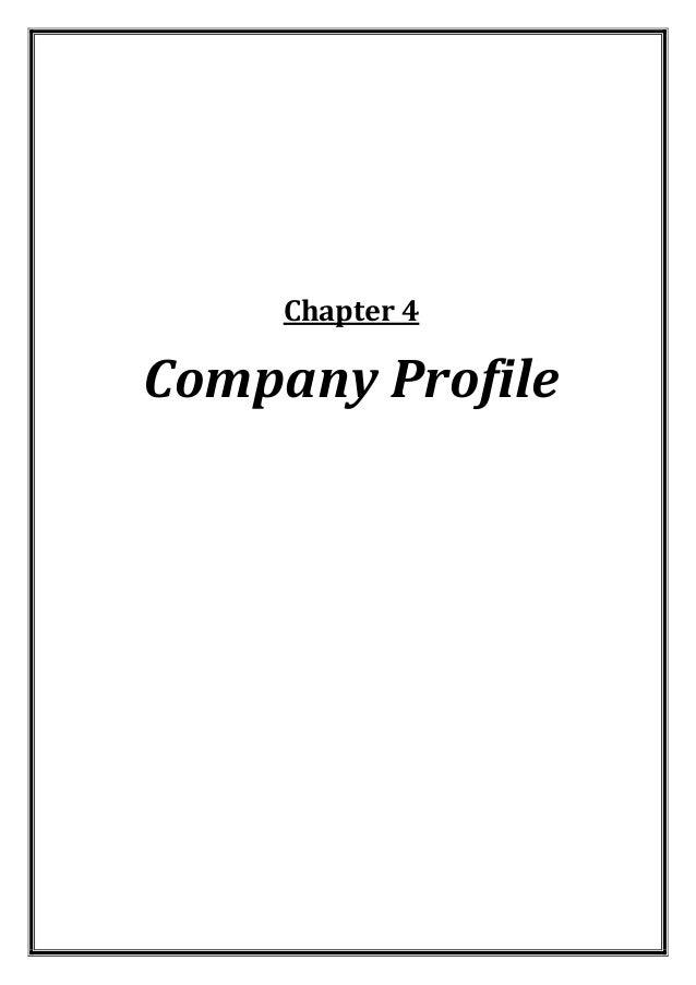 Chapter 4  Company Profile