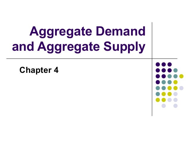 Aggregate Demand and Aggregate Supply Chapter 4