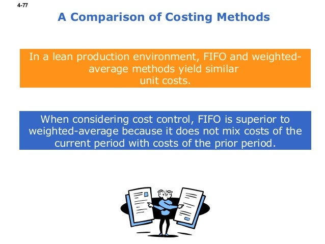 compare and contrast the fifo and weighted average methods of process costing Compare and contrast job costing and process costing  what is the difference between the weighted average process-costing method and the fifo process-costing method.