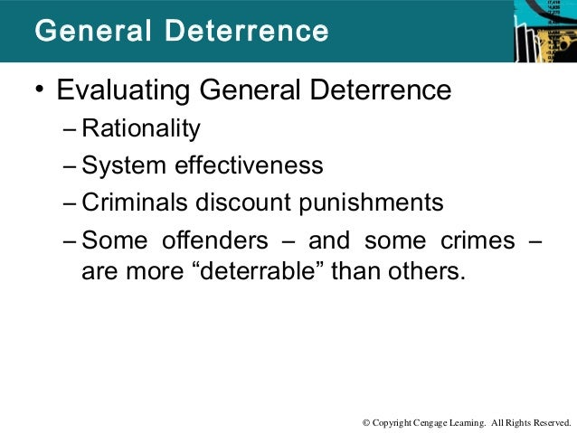 "deterrable offenders The article, ""identifying deterrable offenders: implications for research on deterrence,"" proposed a unique framework from which to understand how deterrence operates."