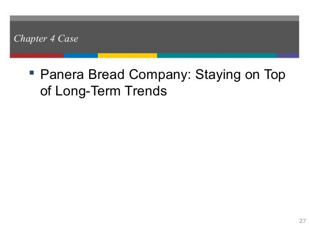 Organization and Management of Panera Bread
