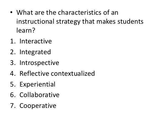Chapter 4 Effective Instructional Strategies