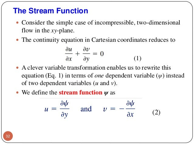 Fluid Mechanics Chapter 4  Differential relations for a