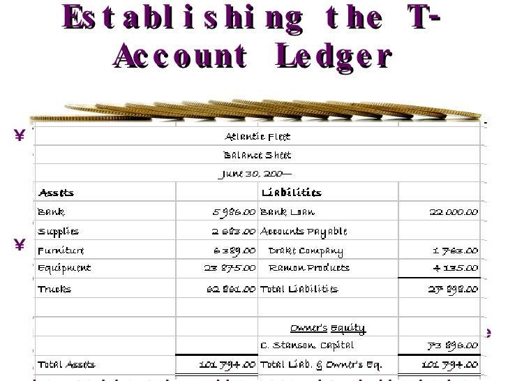 t account ledger