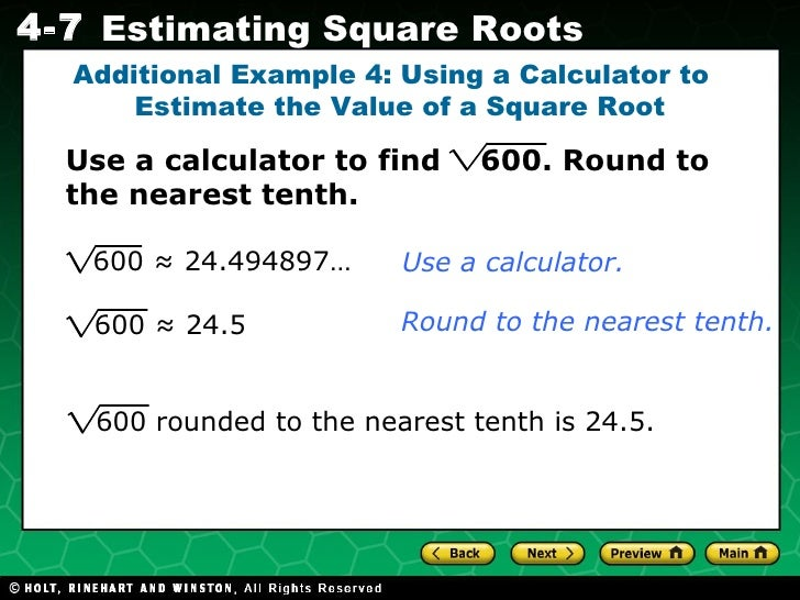 Rounding decimals to the nearest whole.