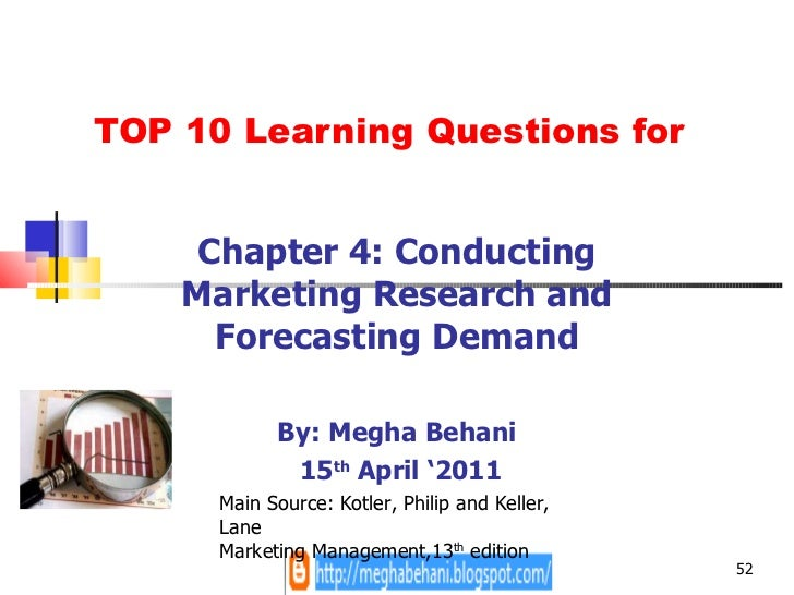 bookshelf marketing management chapter 4 conducting 4 conducting marketing research and forecasting demand marketing  management, 13th ed chapter questions • what constitutes good marketing  research.