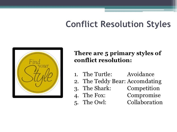 *How to resolve conflict