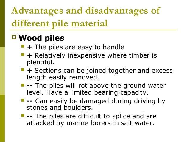 advantages and disadvantages of pile foundation pdf