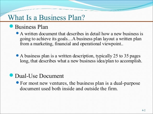 what does a formal business plan look like