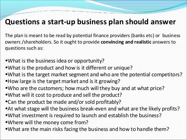 business plan questions pdf