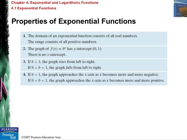 Chapter 4 - Exponential and Logarithmic Functions