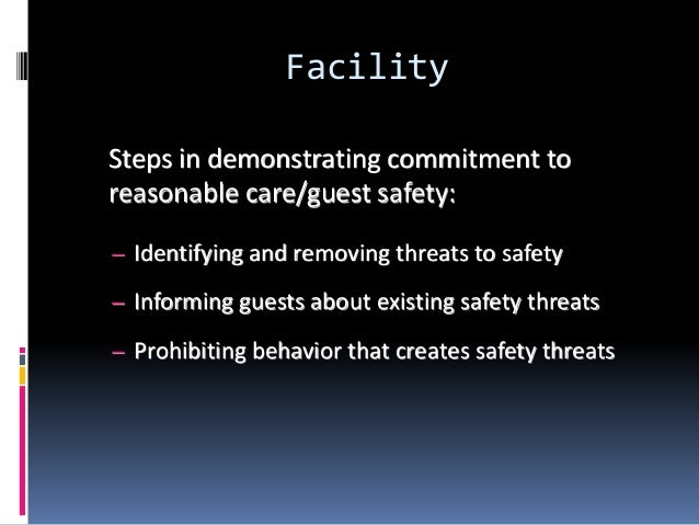 policies for safe and secure treatment in hsc Hsa residential care facilities 28  this involves an initial review of the arrangements in place to secure  spelling out the hazards and identifying safe.