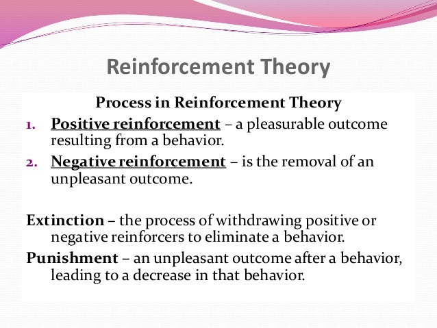 an overview of the principles of reinforcement and the reinforcement theory Operant conditioning essay 757 words | 4 pages operant conditioning overview: the theory of bf skinner is based upon the idea that learning is.