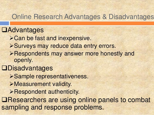 disadvantages of online research