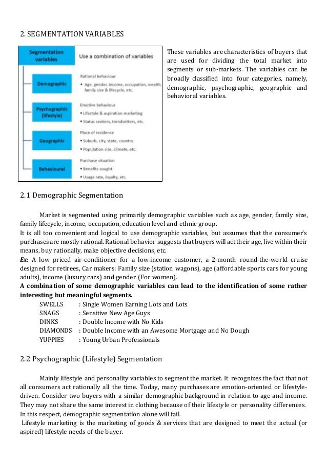 chapter 4 market segmentation