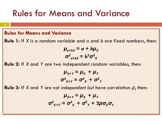 Chapter 4 part3 means and variances of random variables for Rule of three meaning