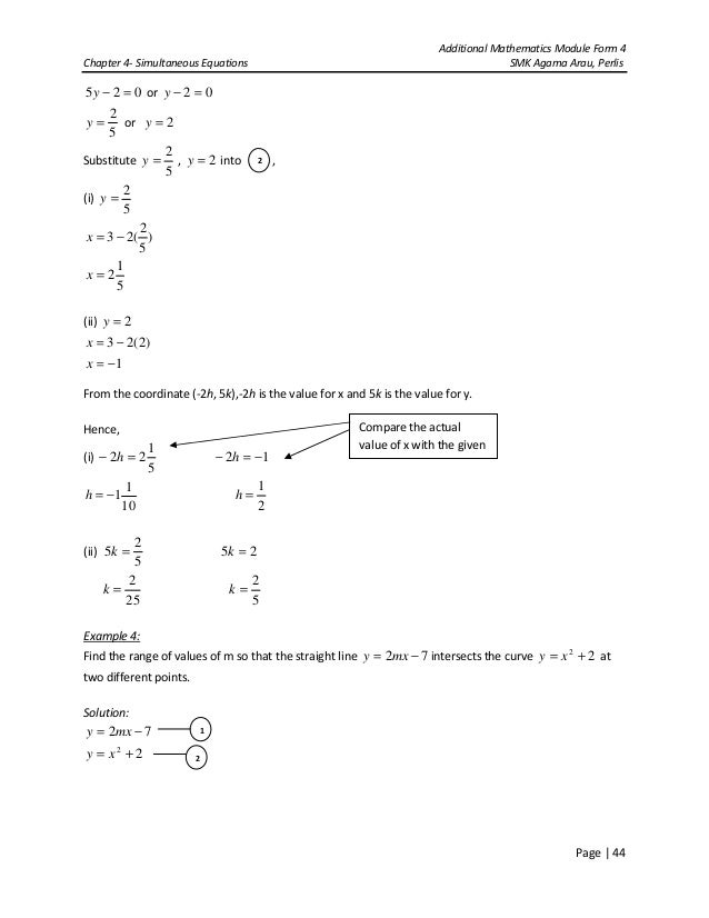 Additional Mathematics Form 4 Chapter 1 Exercise