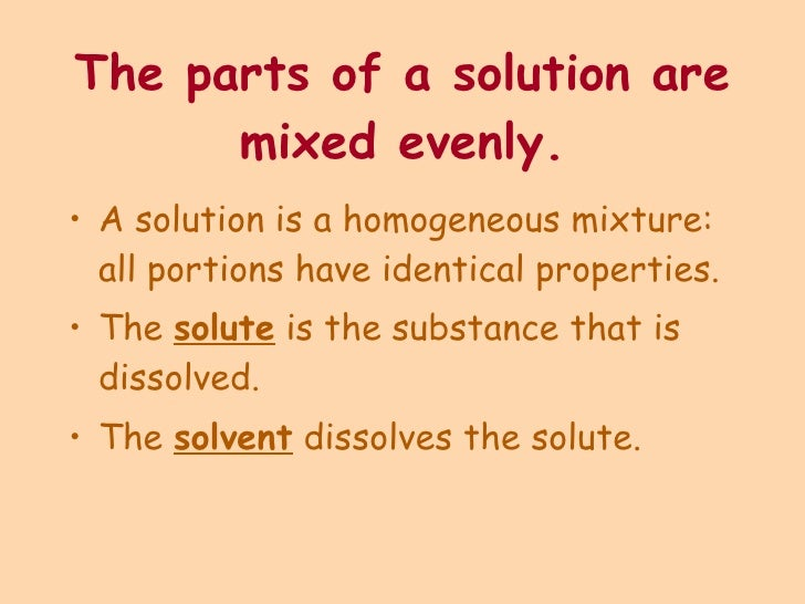 chapter 4 solution In this video, i'll continue our general chemistry course by teaching you the meaning of the terms solvent, solute, electrolyte, and nonelectrolyte i'll also teach you how to use solubility rules to classify different compounds as being soluble or insoluble in water.