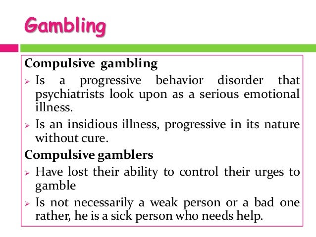GAMBLING ADDICTION - PowerPoint PPT Presentation