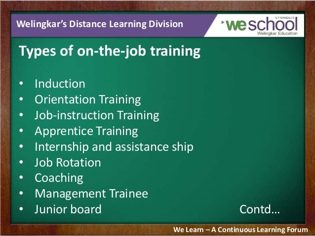 ojt tranning On-the-job training (sometimes called direct instruction) is one-on-one training located at the job site it usually consists of an experienced worker passing down.