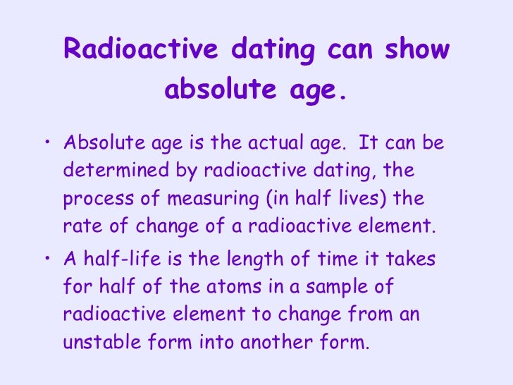 Absolute dating biology definition