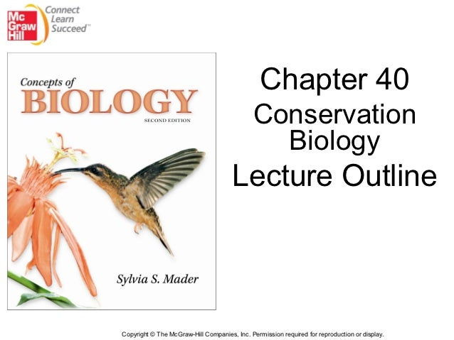 Chapter 40                                              Conservation                                                Biolog...