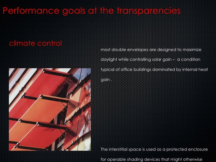 climate control Performance goals at the transparencies most double envelopes are designed to maximize daylight while cont...