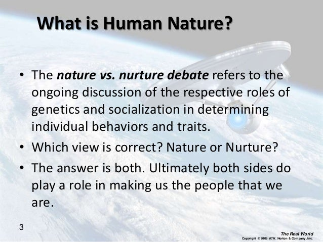 Nature Vs Nurture Refers To