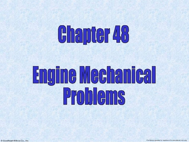 Chapter 48 engine problems