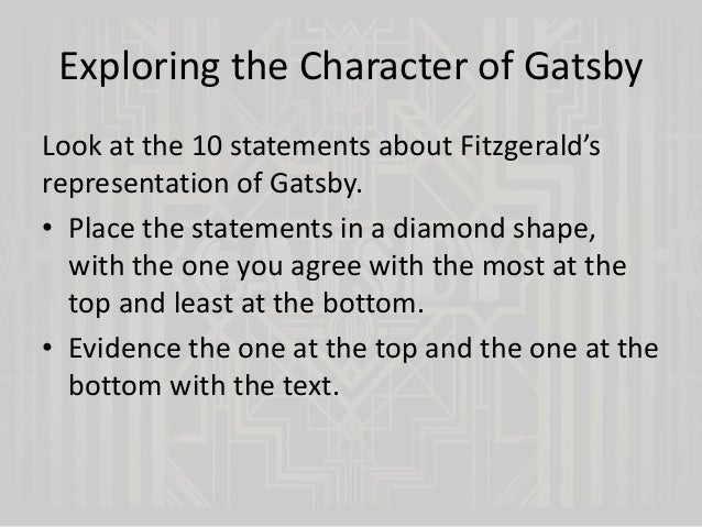 the great gatsby chapter 7 9 The great gatsby chapter 9: eng 3u: symbols and imagery geography in the great gatsby, fitzgerald uses the geography of east and west to convey his views of the inhabitants and societies of the american east coast and midwest.