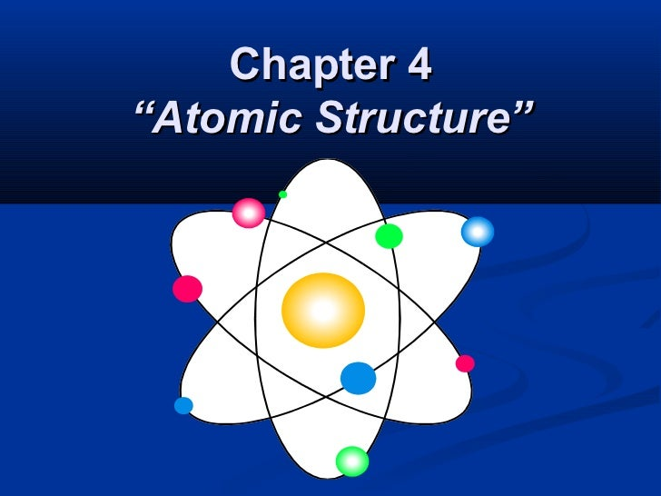 """Chapter 4""""Atomic Structure"""""""