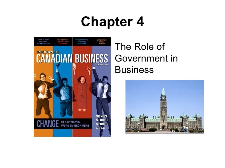 Chapter 4 The Role of Government in Business
