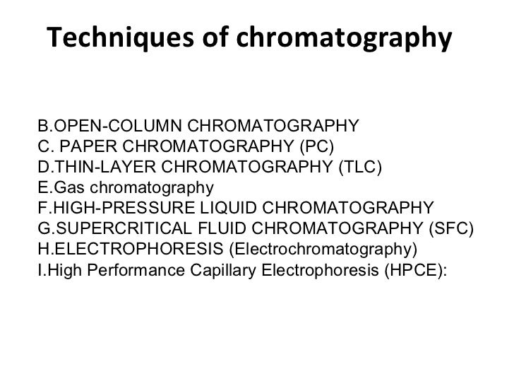 Paper chromatography limitations