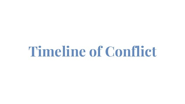 Timeline of Conflict