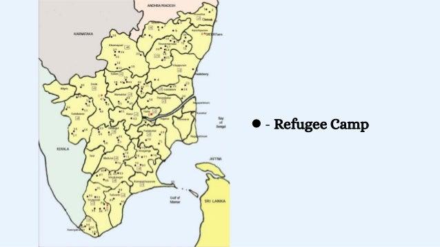 Refugee camp at a school in the Karainagar area