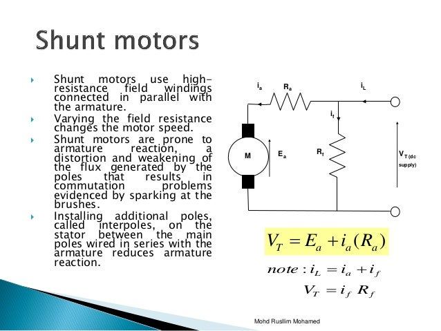 chapter4 dc motor 50  shunt motors