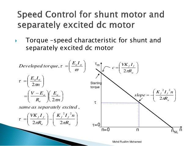 Separately excited dc motor speed control for How to reduce motor speed