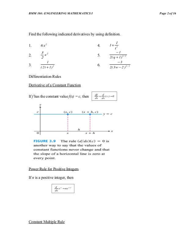 Chapter 4 Differentiation