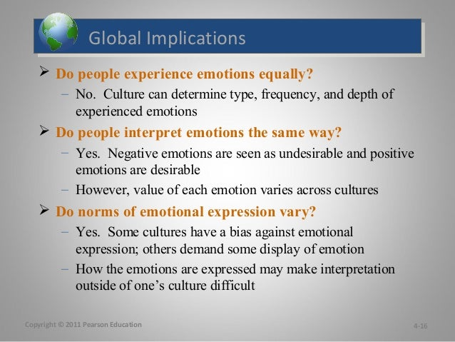 chapter 4 workplace emotions Emotions in the workplace play a large role in how an entire organization  communicates within  31 consequences 4 conclusion 5 references 6 works  cited.