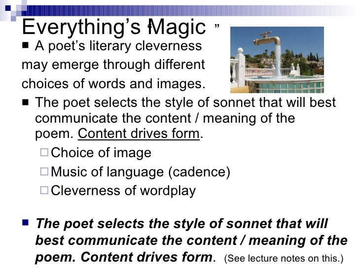 the sonnet form and its meaning The two types of sonnet: shakespearean and petrachen the two types of sonnet: shakespearean and petrachen essay on the sonnet form and its meaning.