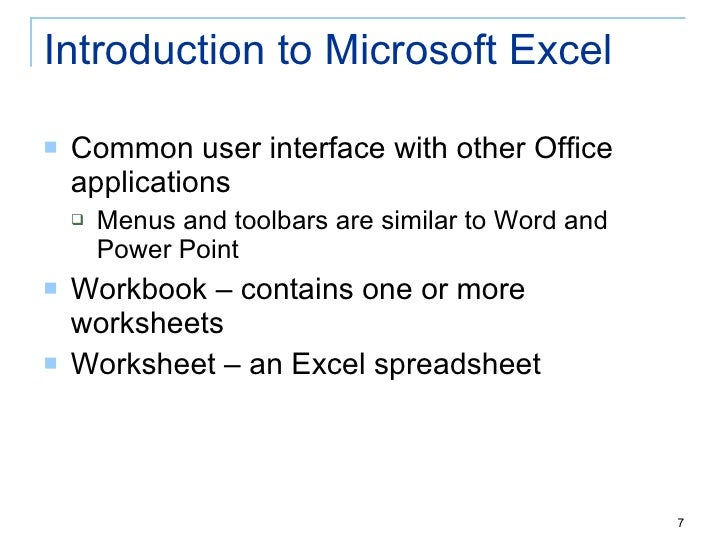 TID Chapter 4 Introduction To SpreadsheetExcel – An Excel File That Contains One or More Worksheets