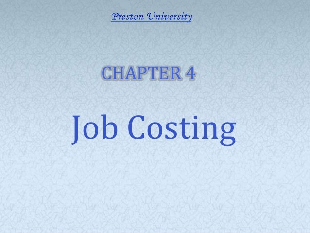 CHAPTER 4Job Costing