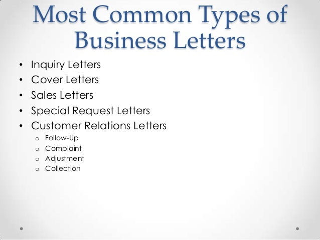 Chapter 4 most mon letters