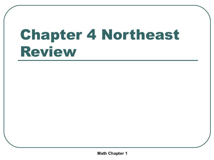 Chapter 4 Northeast Review Math Chapter 1