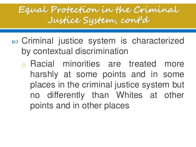 the extent to which discrimination is a problem affecting the criminal justice system Racial discrimination and disparity in the united states justice system 2733 words | 11 pages introduction the issue of racial disparity in the criminal justice system has been a longstanding debate in this county.