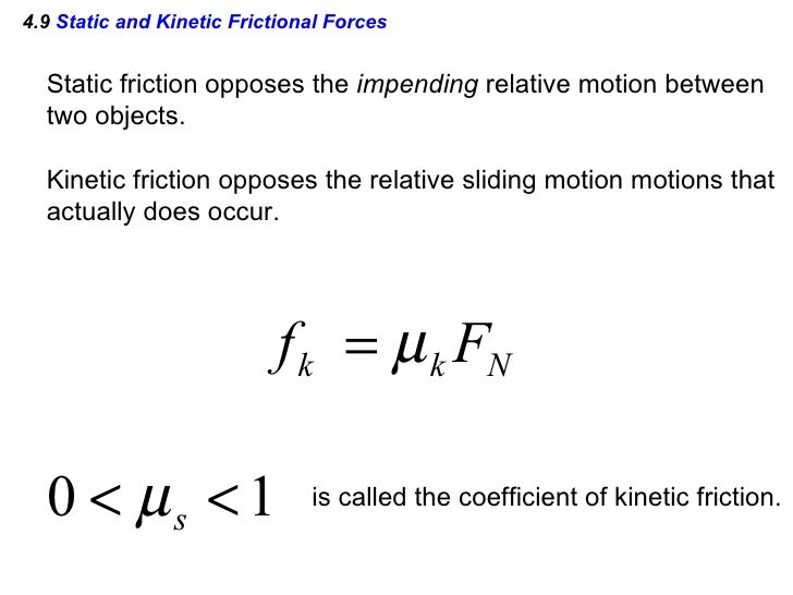 AP Physics Chapter 4 Powerpoint – Coefficient of Friction Worksheet