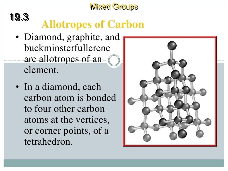 properties of allotropes of carbon essay Three naturally occurring allotropes of carbon are known to exist: amorphous,  graphite  these two forms have identical physical properties but different crystal .