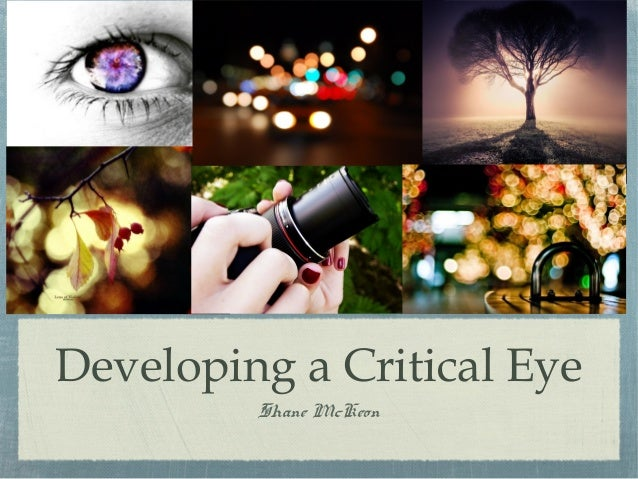 Developing a Critical Eye         Shane McKeon