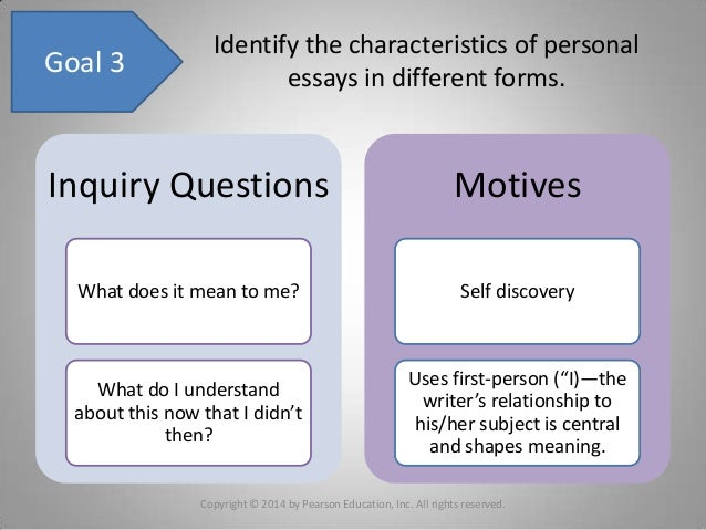 chapter writing a personal essay 11